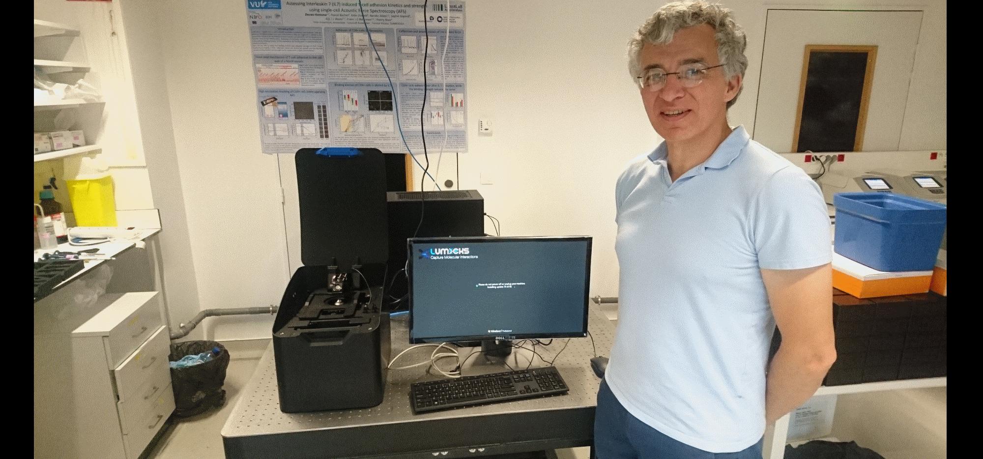 Acoustic force spectroscopy Pasteur Institute Paris Thierry Rose
