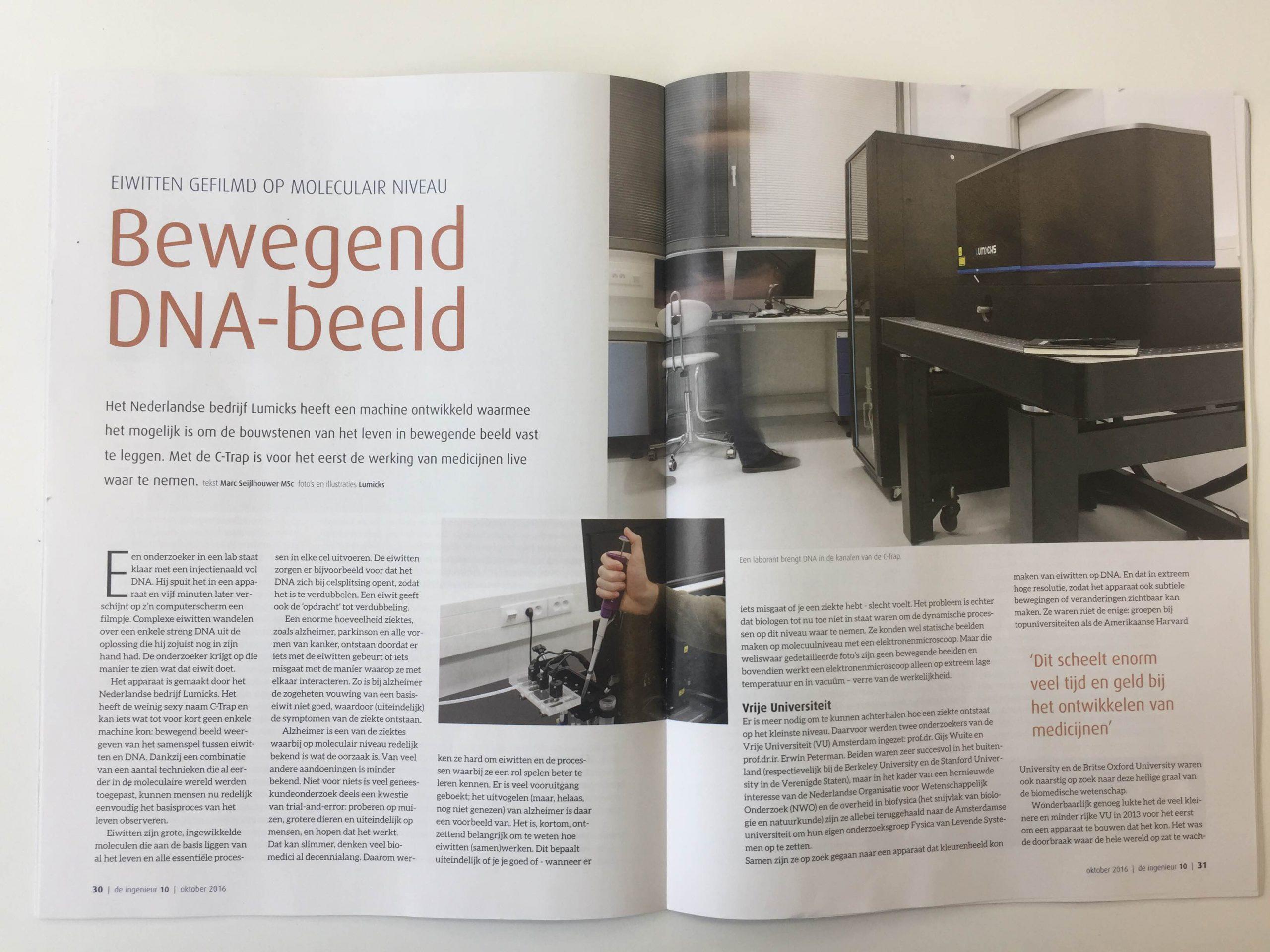 de-ingenieur-newsitem-optical-tweezers-fluorescence-microscopy