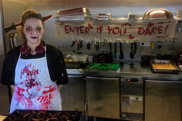 Our chef Bianca during Halloween